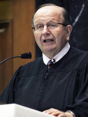 Indiana Supreme Court Justice Brent Dickson (delivering the 2014 State of the Judiciary address while he was chief justice) is leaving the bench after 30 years of service.