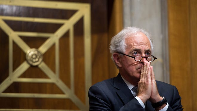 Majority Chairman Sen.Bob Corker questions Secretary of State Pompeo as he testifies to Senate Foreign Relations Committee on diplomacy and national security.