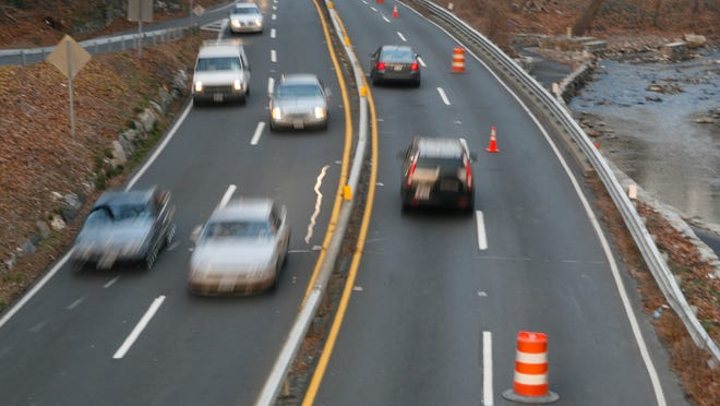 Drivers are reminded that fines are doubled for speeding in a construction zone.