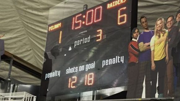 The scoreboard at the Ice Hutch in Mount Vernon.