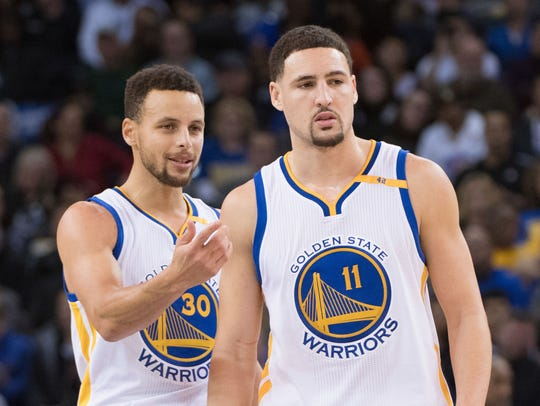 Steph Curry and Klay Thompson.