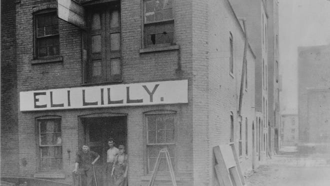 The first laboratory of Eli Lilly & Co. opened at 15 West Pearl Street in Indianapolis in 1876.