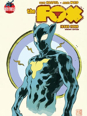 Here's one of the variant covers of the fourth issue of 'The Fox,' which goes on sale Feb. 12.