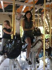 Carousel ride Karen Hinderliter spent some quality