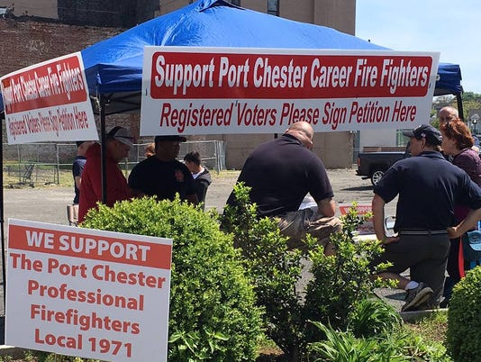 Port Chester paid firefighters petition drive