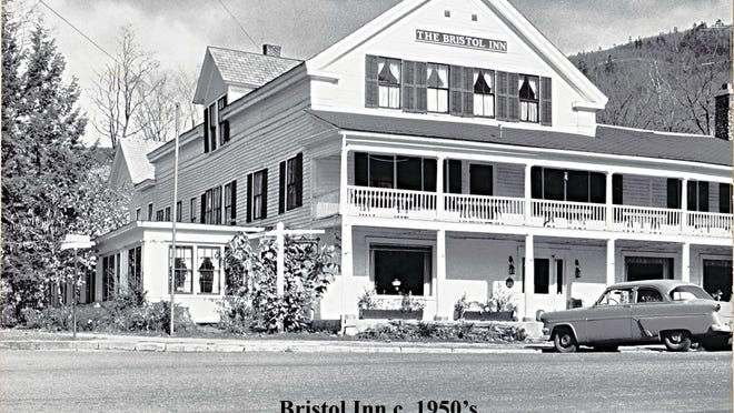 A view of the Bristol Inn in the 1950s.