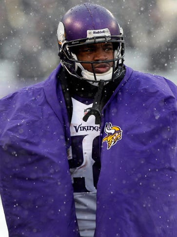 RB Adrian Peterson played one game for the Vikings