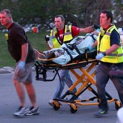 Authorities are responding to a shooting near Trestle Trail bridge in Menasha.