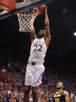 Andrew Wiggins helped power Kansas to a big win against Towson.