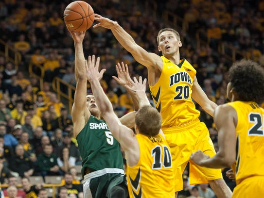 Iowa forward Jarrod Uthoff is one of the country's