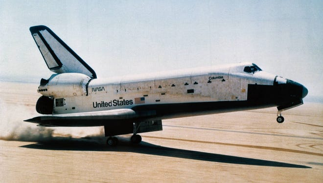 After 36 orbits, Space Shuttle Columbia reentered the Earth's atmosphere and safely landed at Edwards Air Force Base in California.