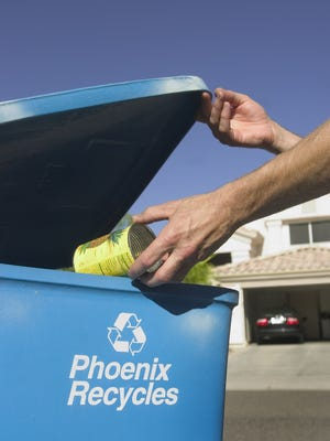 Recycling in Ahwatukee.