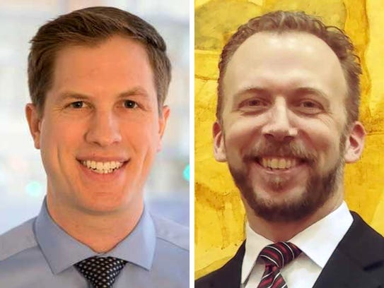 Casey Shorts (left) is competing against incumbent Supervisor Theodore Lipscomb Sr. (right) for Milwaukee County Board District 1 supervisor in the April 3 spring election.