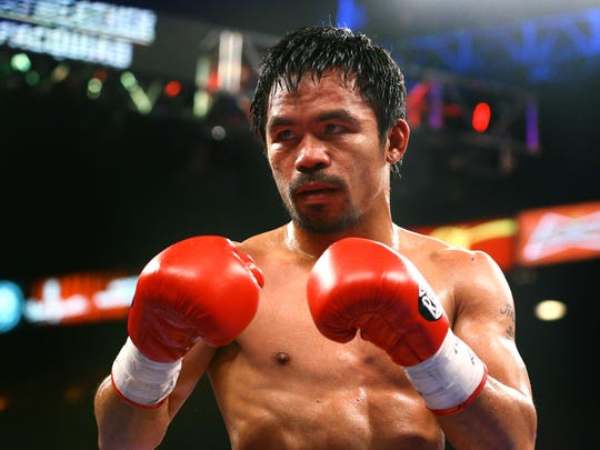 Manny Pacquiao lost to Floyd Mayweather during their