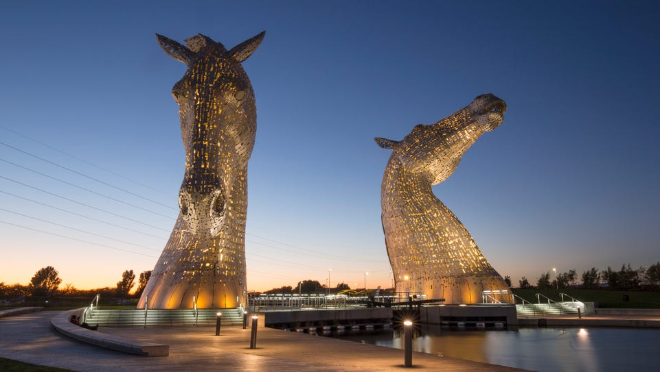 Opened in 2014, the Kelpies are a very recent addition