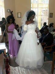 On May 5, Zanele Ndlovu walks down the aisle on her