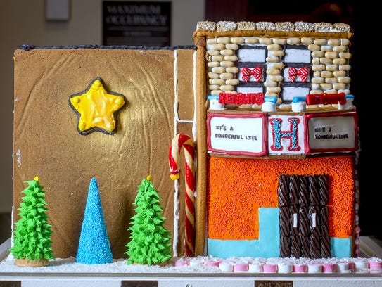 This gingerbread rendition of the Heights Theater captured