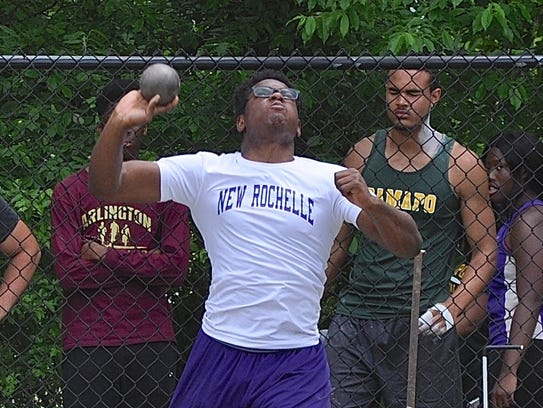 New Rochelle's Jordan Forrest prepares to release the