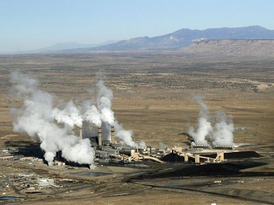 The San Juan Generating Station is seen on Nov. 6, 2013, in Waterflow.