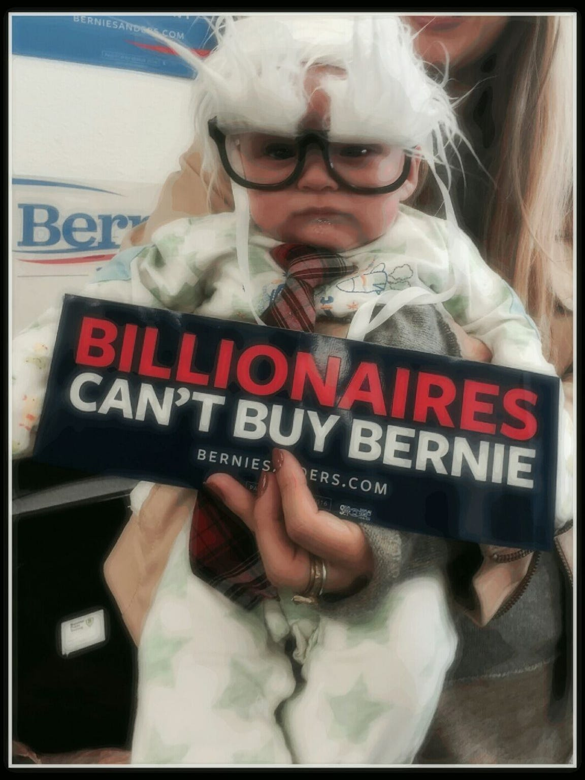 "Oliver Lomas was known around the world as the ""Bernie Baby."""