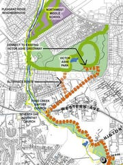 Portions of the plans to connect the Victor Ashe Greenway