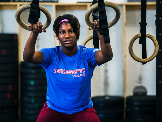 July 29, 2017 - Javonni Merritt, 18, poses for a portrait at CrossFit Triad in East Memphis on Saturday. Merritt is the first African-American woman in Memphis to earn a rugby scholarship through her participation in the organization Memphis Inner City Rugby. Once she begins college, she'll be playing rugby at Life University in Marietta, Georgia.