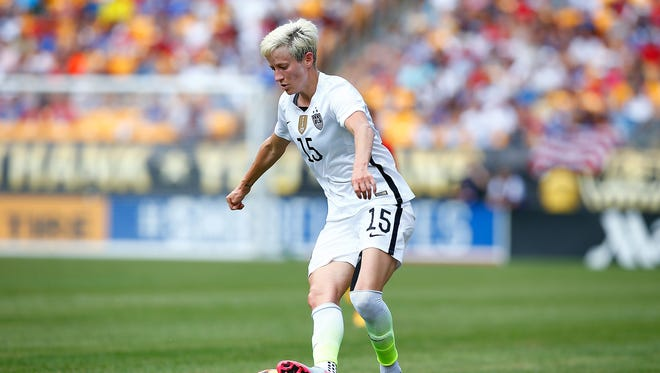 Megan Rapinoe and the U.S. Women's National Team will open its training session to the public on Wednesday at Ford Field.