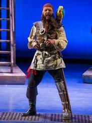 Michael Elich plays Long John Silver in the Utah Shakespeare
