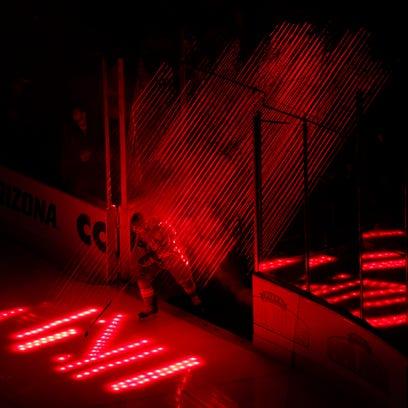 Arizona Coyotes Sam Gagner takes the ice against Winnipeg