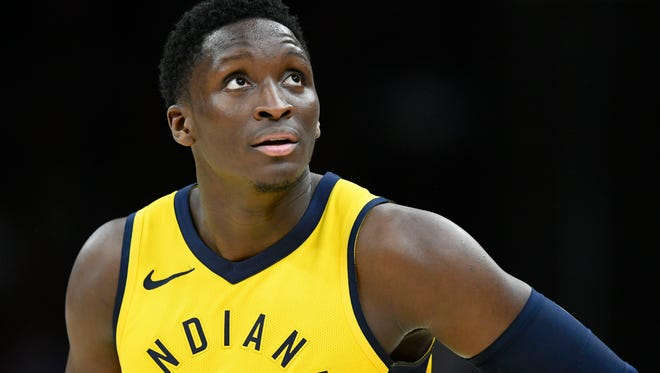 Indiana Pacers guard Victor Oladipo has scored fewer points in each successive game of the series against Cleveland.