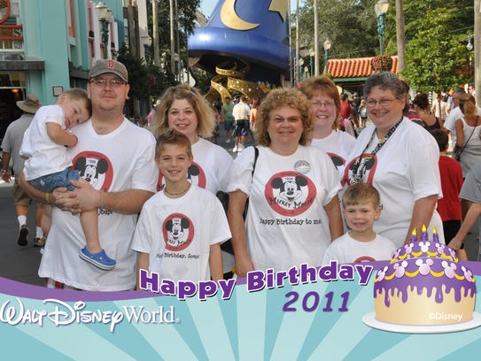 Sue Shamberger and her family took a trip to Disney