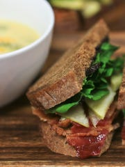 This lunch The Table, a new pay-as-you-can restaurant that is in Portland, included a BLT on rye bread with broccoli cheese soup. It's part of a new project of Portland Promise Ministries.
