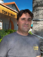 Fort Myers Beach developer Joe Orlandini, shown here, and Terry Persaud have turned the longtime Top O'Mast space into Sunset Beach Tropical Grill and Playmore Tiki Bar.