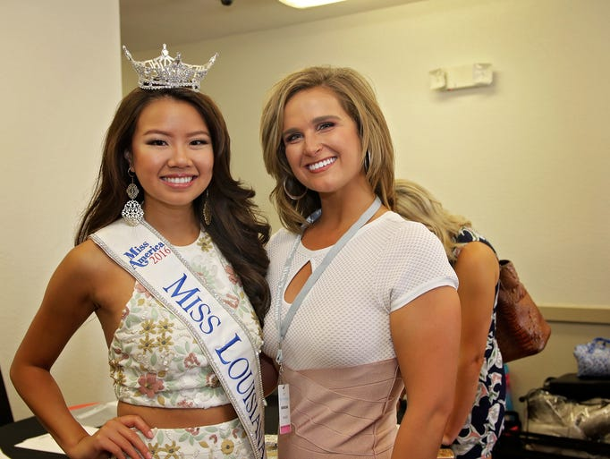 Miss Louisiana 2016, Justine Ker, and 2017 contestant,