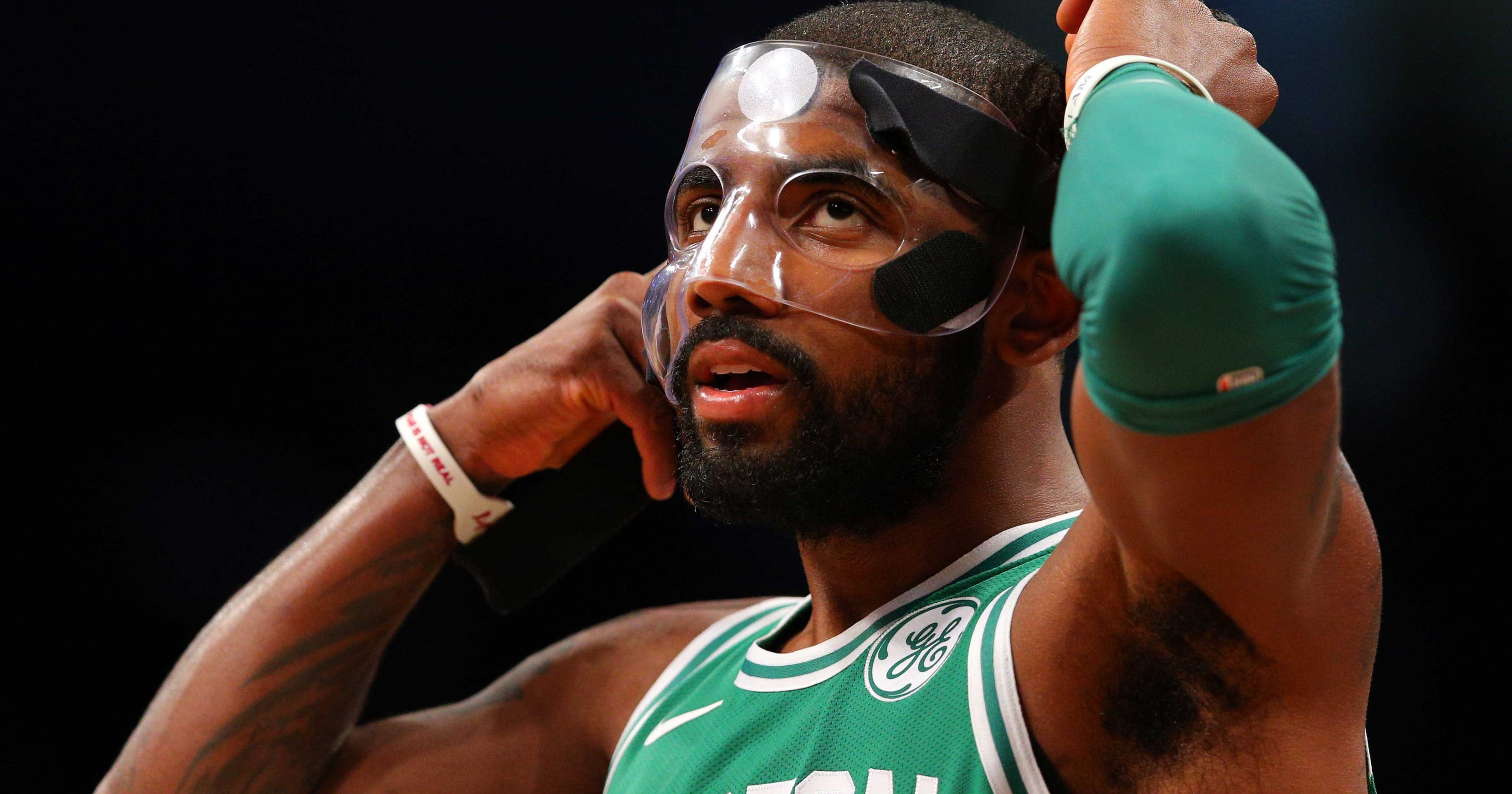 2a69affc709 Kyrie Irving hated his face mask so much