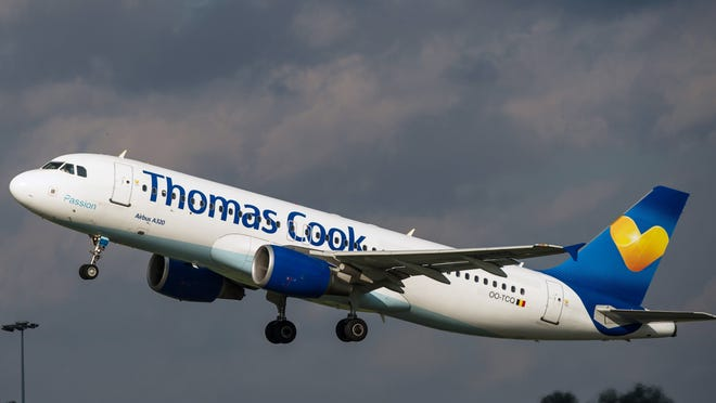 Thomas Cook Airlines is abandoning its twice-weekly nonstop service between Reno and London that was set to start Dec. 19.