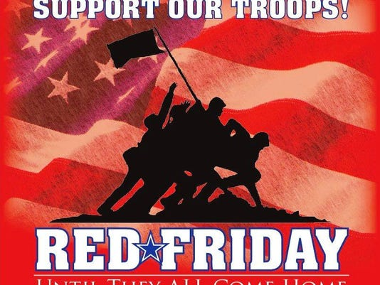 93825e34a Wear Red Friday To Support Military Overseas
