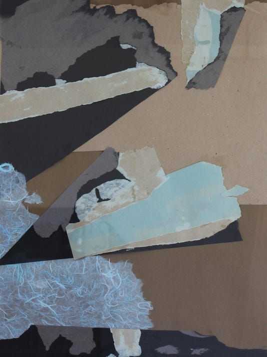 SEISMIC SHIFT collage 32 x 24 c.2011