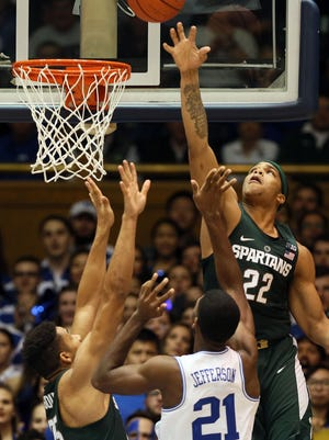 Miles Bridges and Michigan State lost last year at Duke, 78-69.