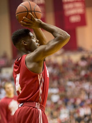 Freshman guards Robert Johnson (pictured) and James Blackmon Jr. might be counted on heavily this season. Yogi Ferrell has been getting them ready.