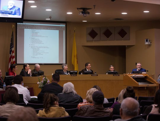 The Las Cruces Public School School board, Tuesday