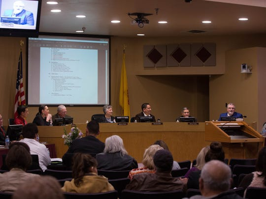 The Las Cruces Public School School board, Tuesday Feb 20, 2018.