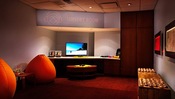 A sensory-inclusive room at Cleveland's Quicken Loans