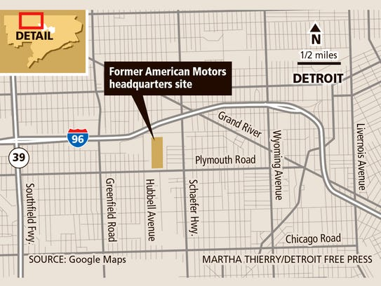 The site of the former American Motors headquarters.