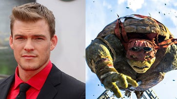 Alan Ritchson (left) and Raphael (right)