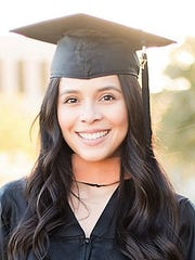 Olivia Lucero, senior at the SBNG accounting firm, recently got her master's degree at UTEP.