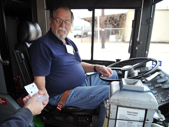 Wichita Falls Public Transportation driver Gary Fortner