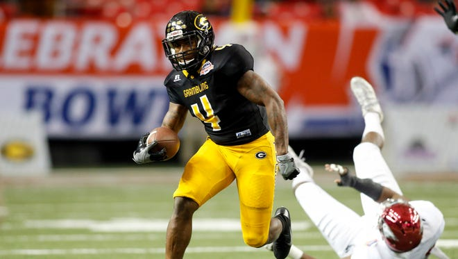Grambling running back Martez Carter (4) will be one of the key pieces on offense in 2017. He totaled 1,892 all-purpose yards as a runner, receiver and kick returner.
