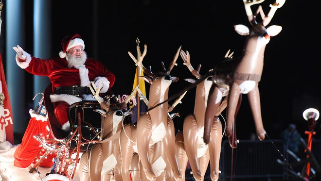 Georgetown held its annual Christmas Parade on Thursday, Dec. 7, with Santa arriving on the Circle in a sleigh towed by reindeer to an enthusiastic crowd.