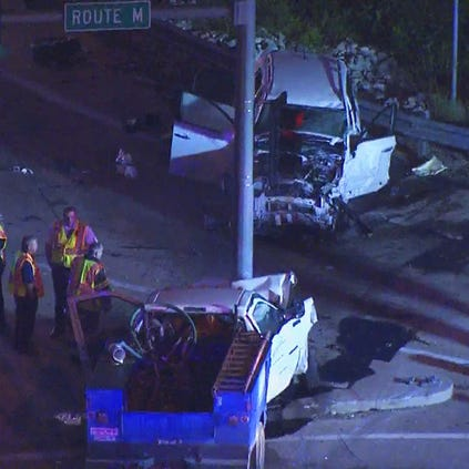 At least one person is injured after a serious accident in St. Charles County.